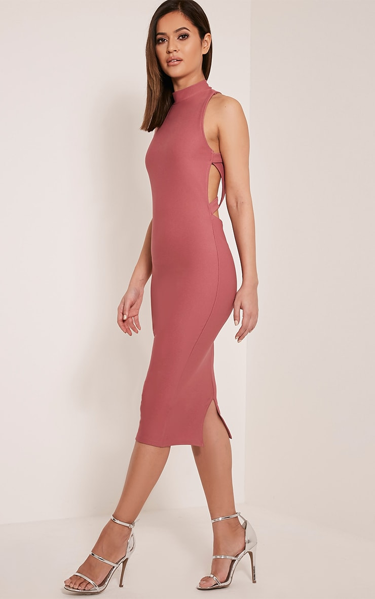 Clara Rose Double Cross Back Midi Dress 4