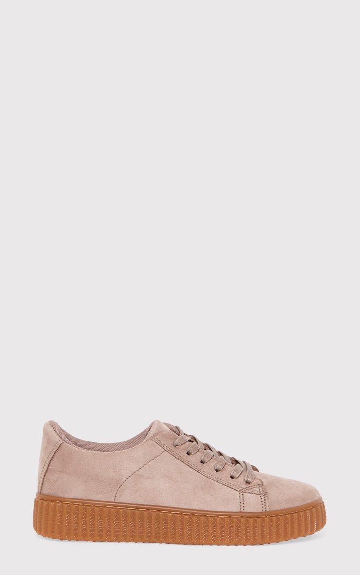 Kailey Nude Faux Suede Creepers 1