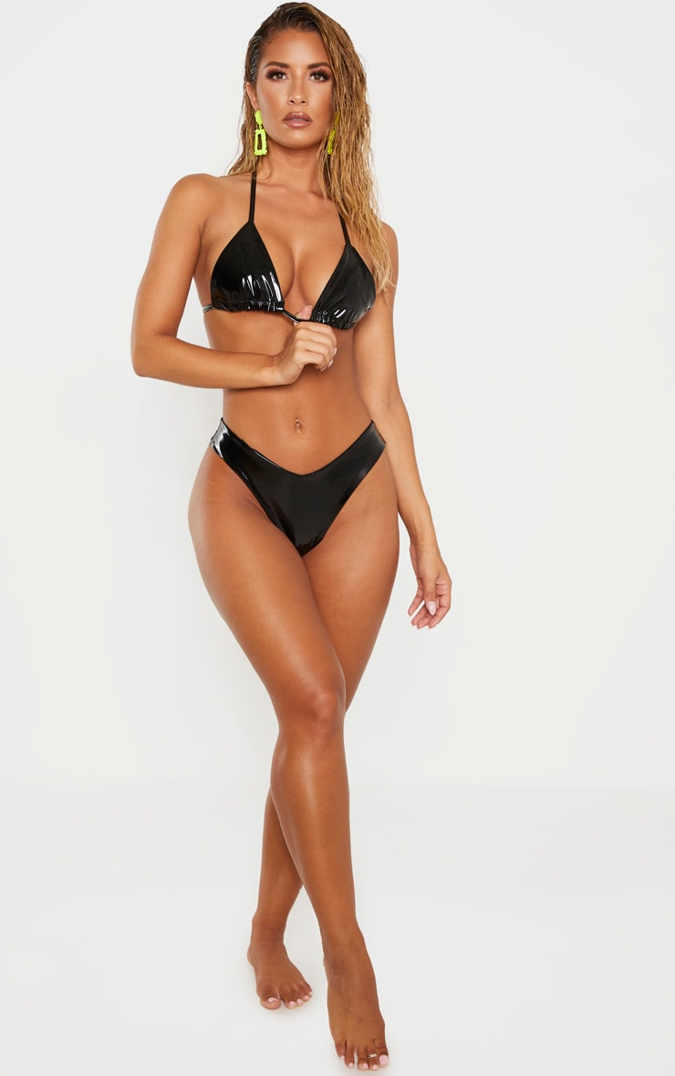 Black Vinyl Bikini Bottom 4