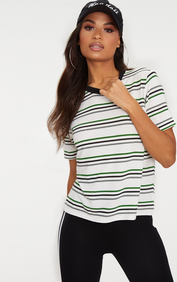 White Stripe T Shirt  1