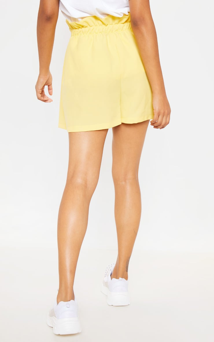 Pale Yellow Woven Pleat Front Short 3