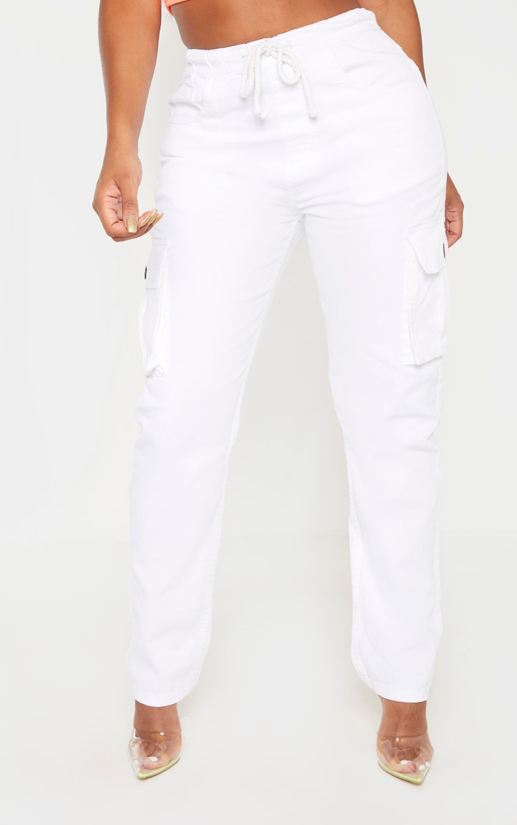 Shape White Cargo Jeans 2