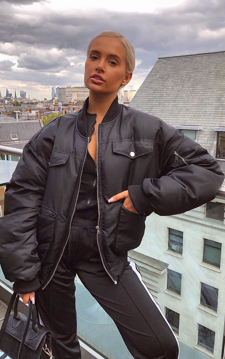 Black Oversized Bomber 1