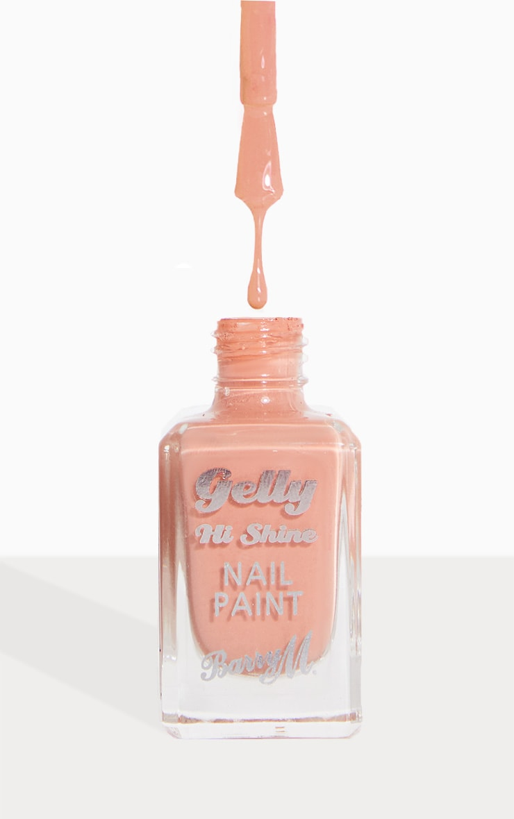Barry M Gelly Hi Shine Nail Paint Peanut Butter image 1
