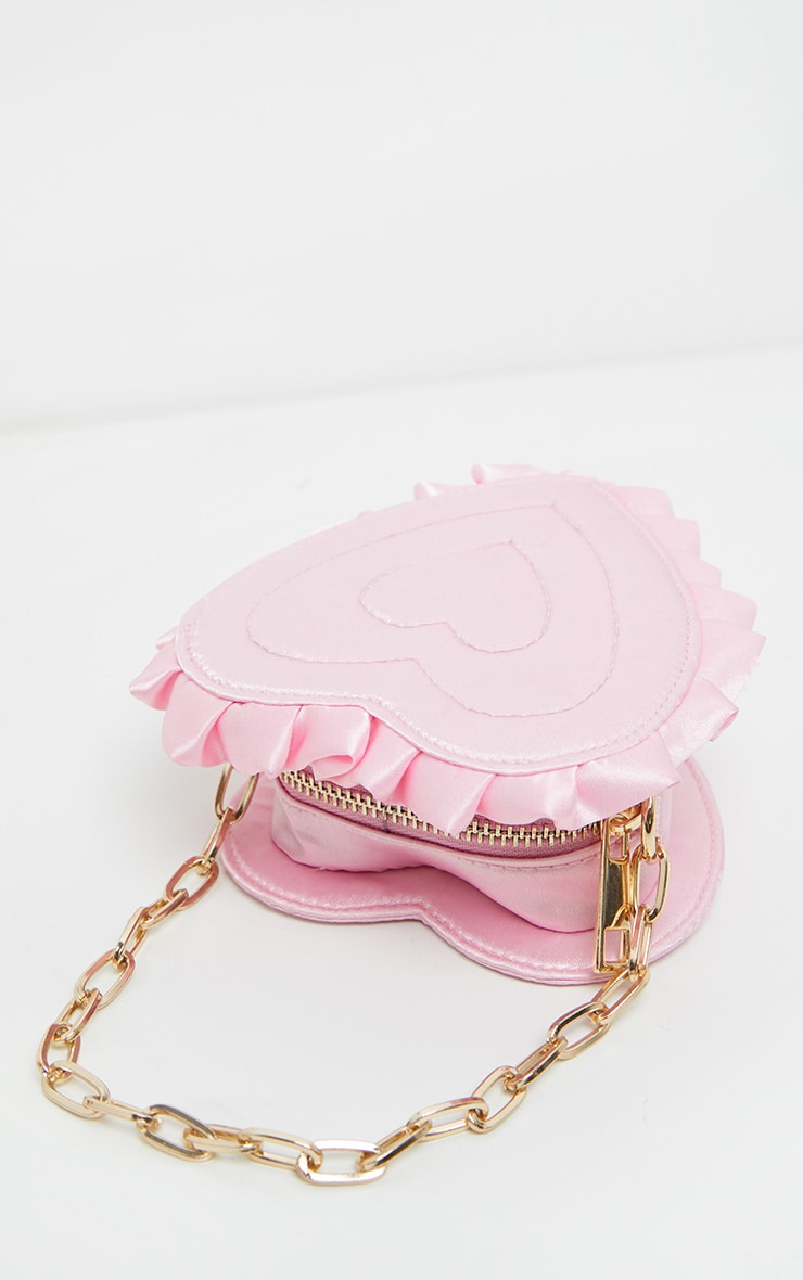Pink Satin Heart Mini Bag 2
