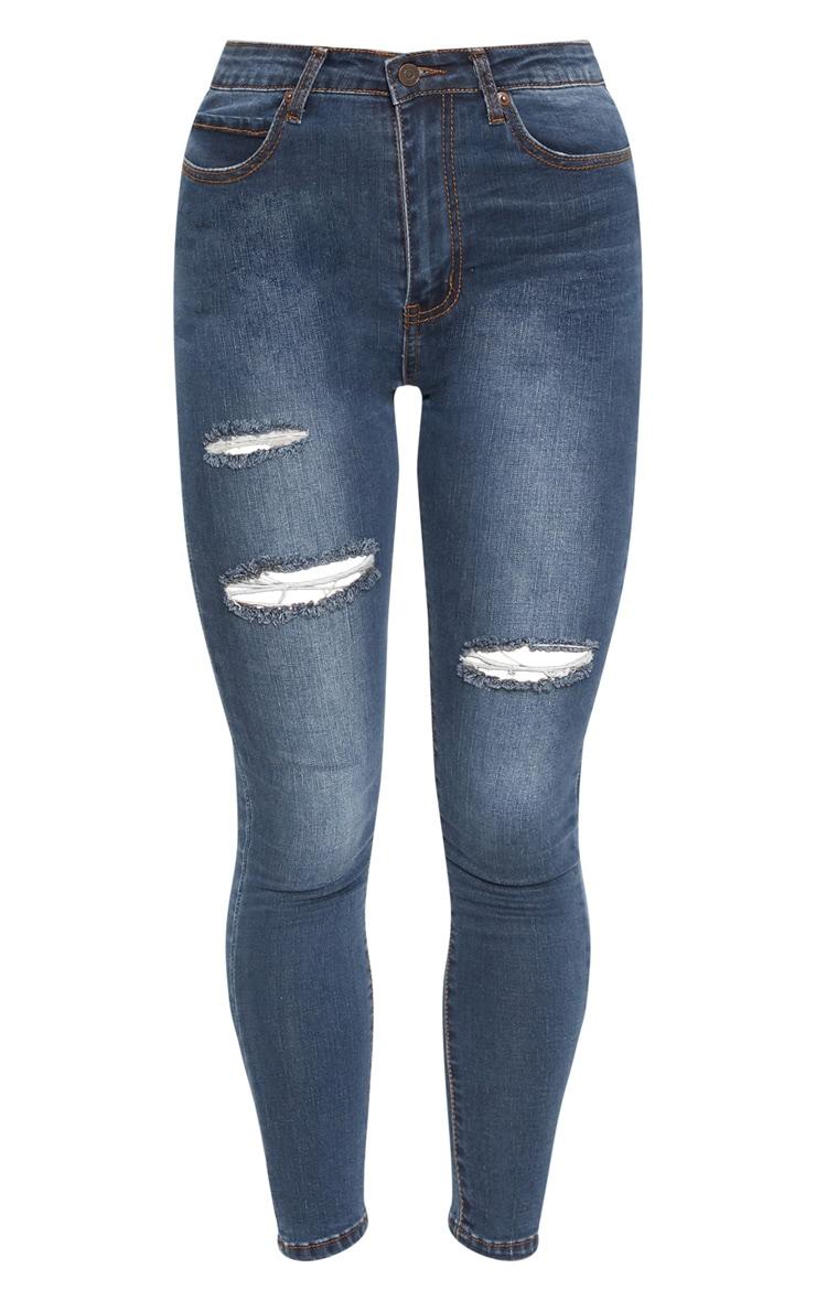 Dirty Vintage Distressed Skinny Jean 3