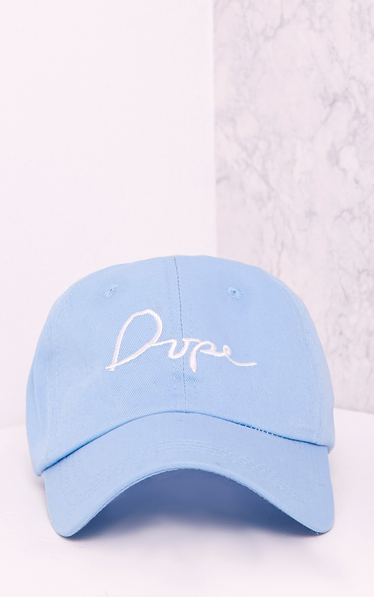 Dope Slogan Blue Baseball Cap 3