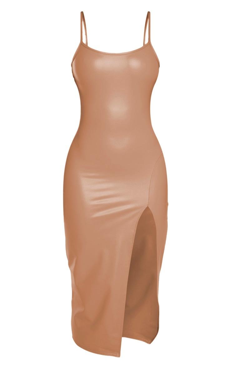 Shape Stone PU Strappy Midi Dress  3