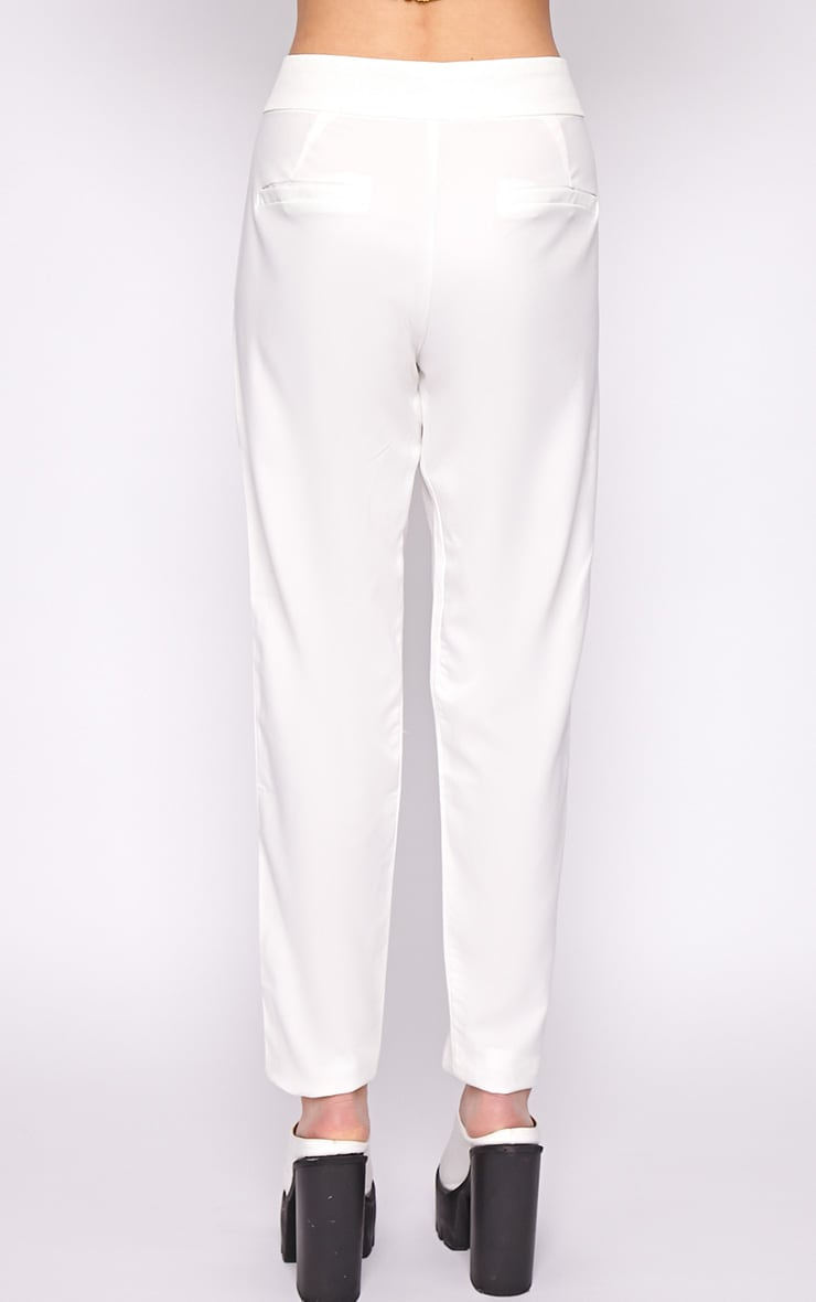 Breanna White Tailored Linen Trousers 2