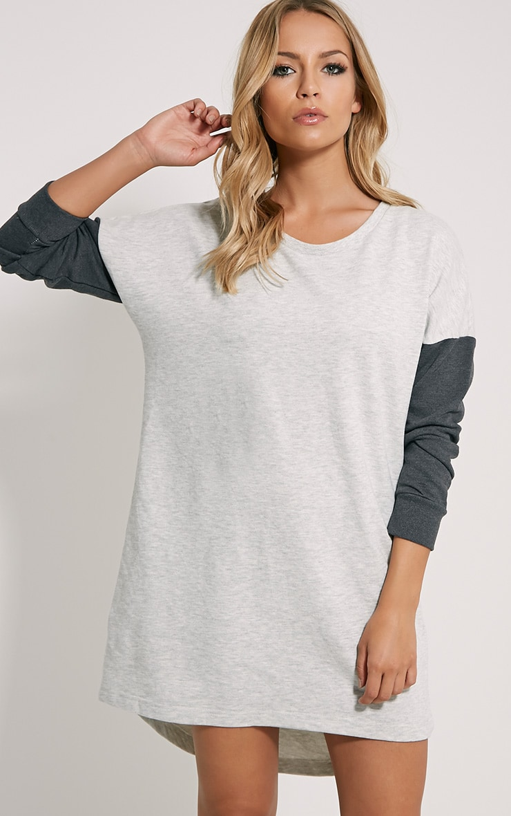 Milena Grey Jumper Dress 1