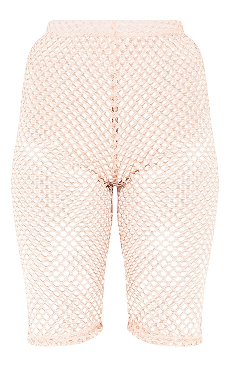 Damia Nude Fishnet Cycle Shorts  3