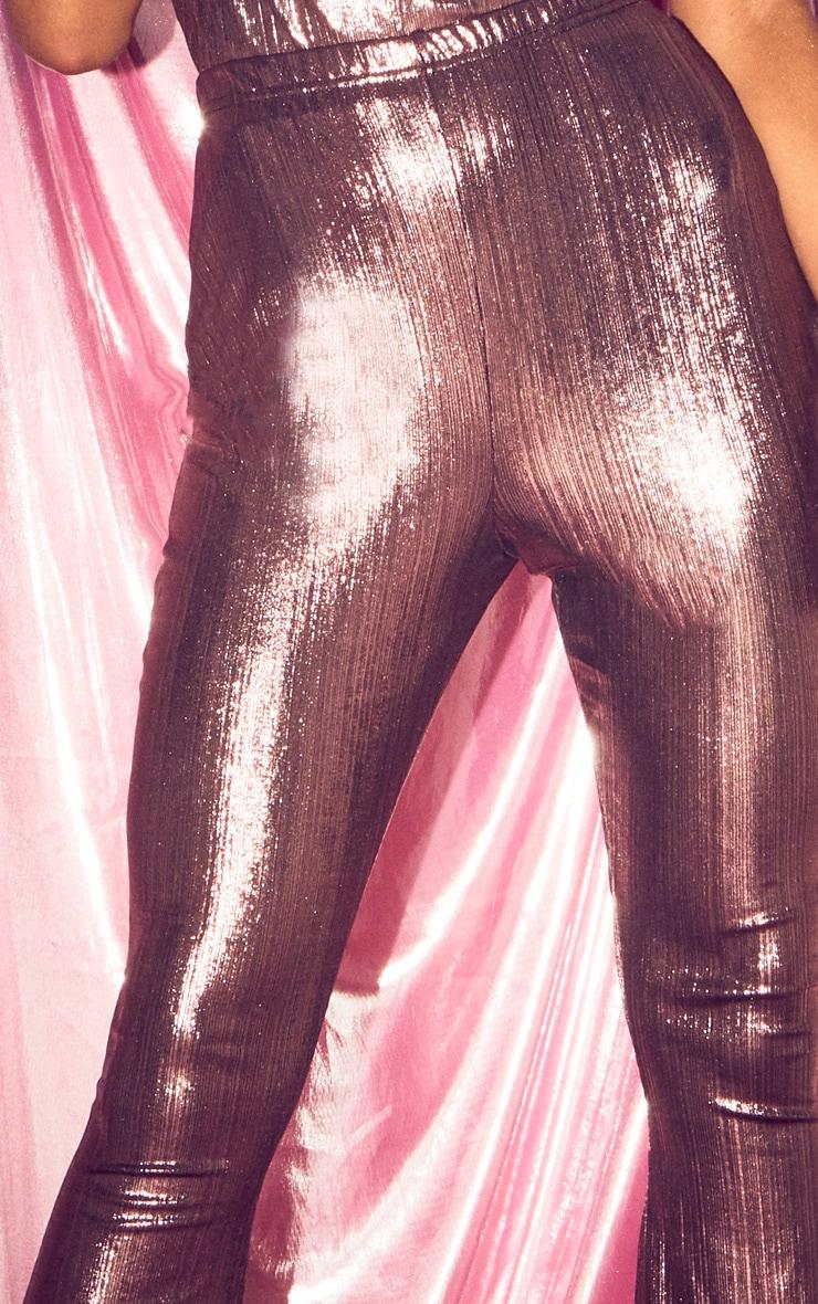 Pink Metallic Flared Trouser 5