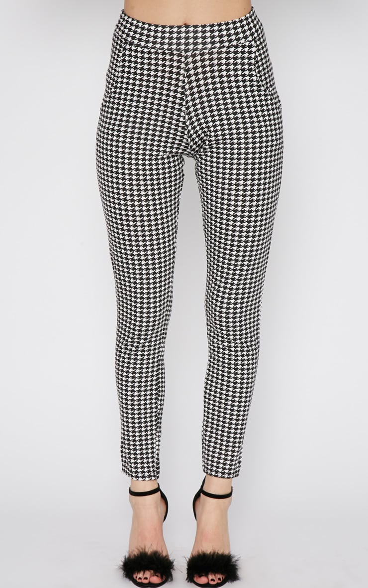 Camille Monochrome Dogtooth Trouser  2