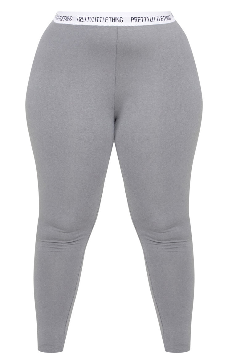 PRETTYLITTLETHING Plus Charcoal Grey Leggings 3