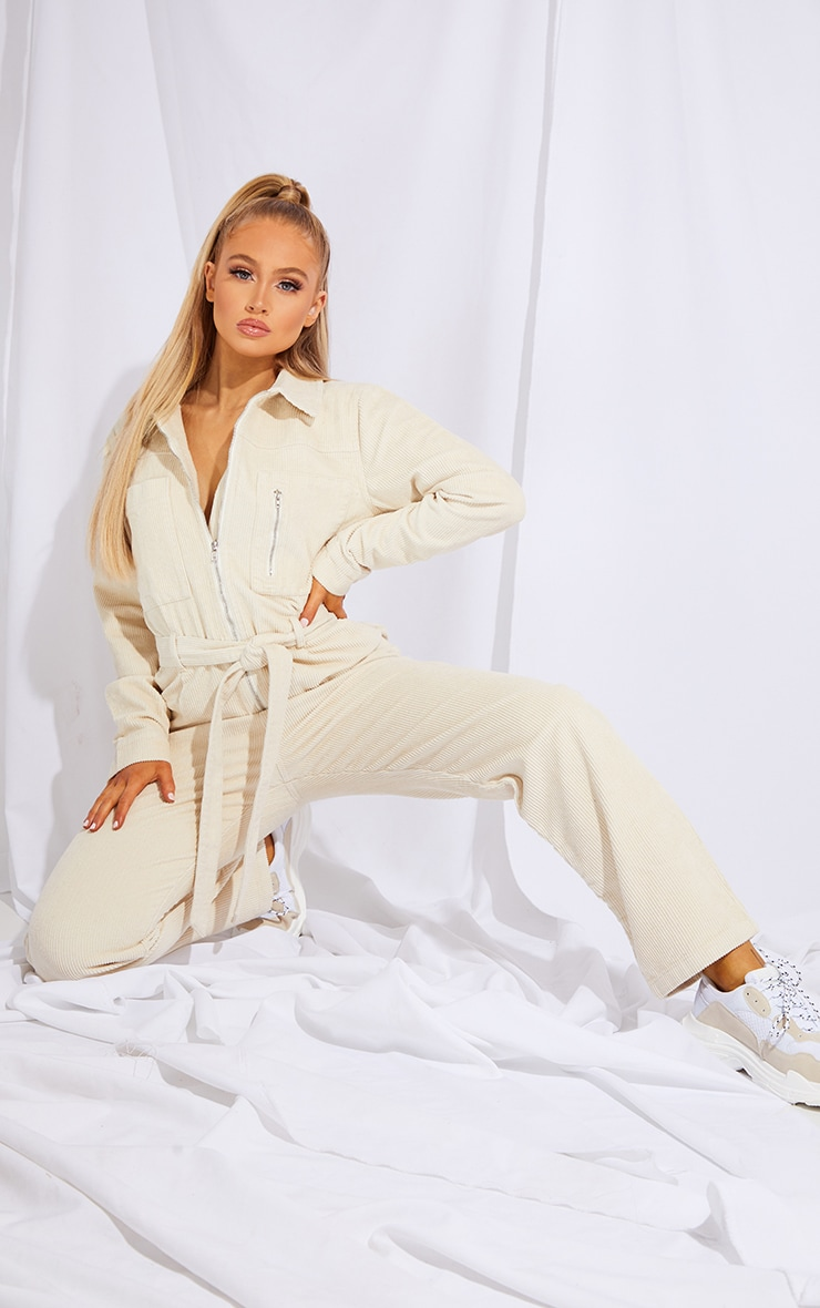 Stone Oversized Cord Belted Jumpsuit 3