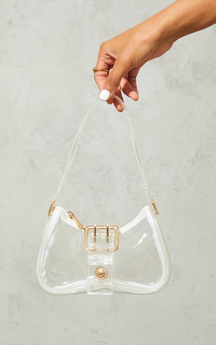Clear Front Buckle Shoulder Bag 2