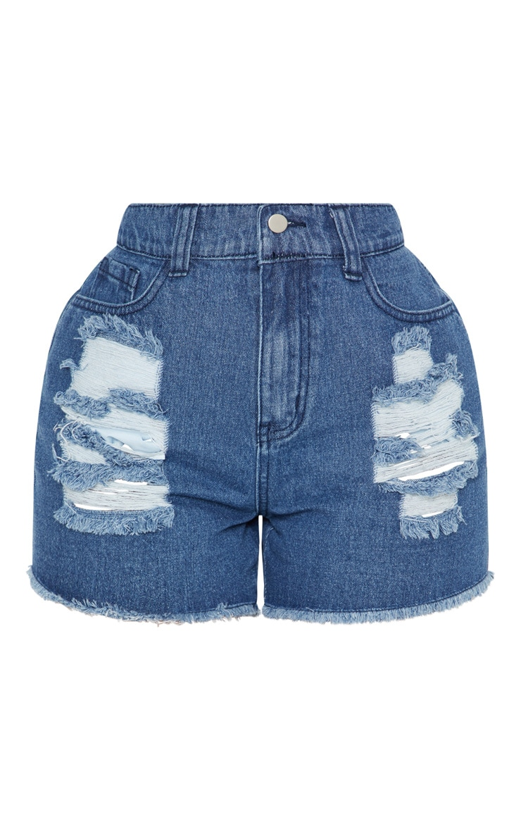 Shape Light Wash Bum Rip Denim Hot Pants 3