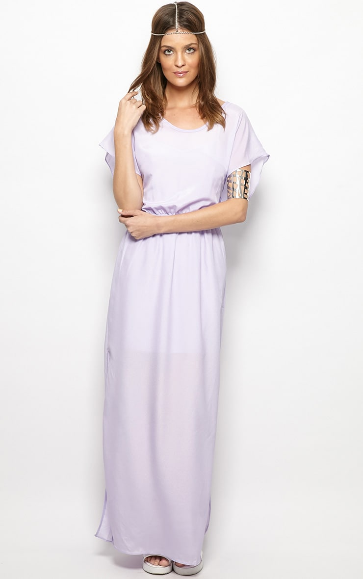 Faith Lilac Loose Fit Maxi Dress 1