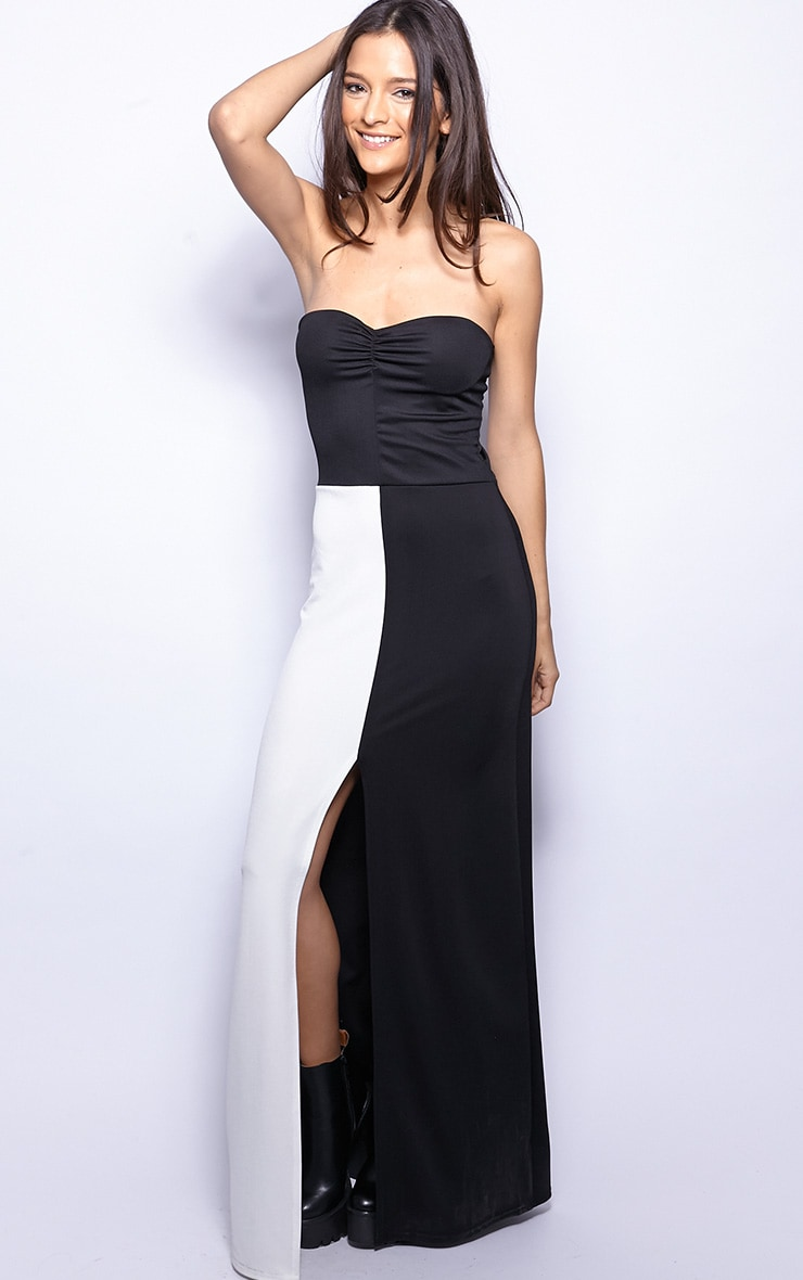 Ivy Monochrome Strapless Maxi Dress-12 3