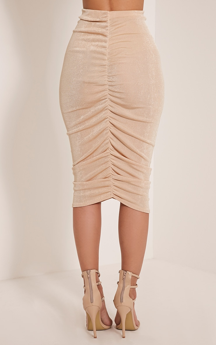 Remmie Stone Ruched Midi Skirt 5