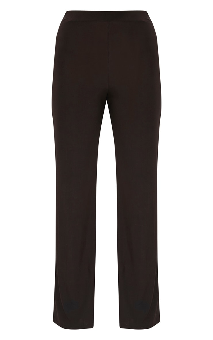 Petite Chocolate Kyleigh Slinky Wide Leg Trousers 2