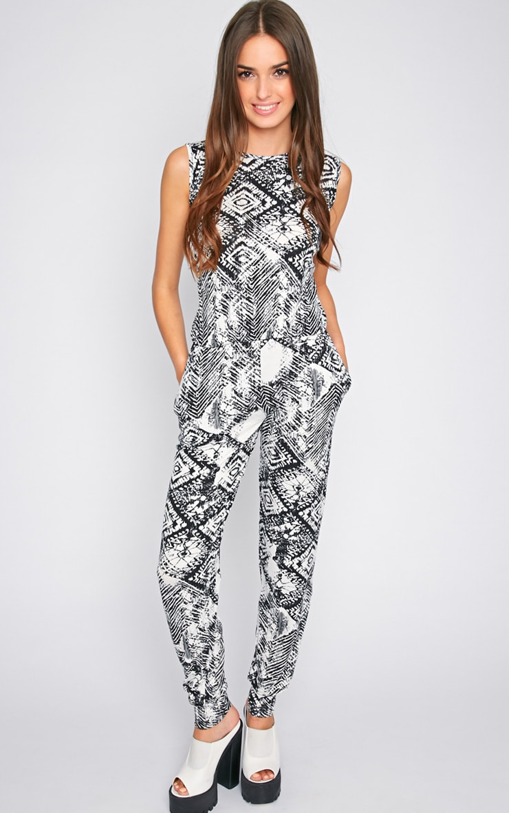 Dalia Black & White Slouch Jumpsuit 1