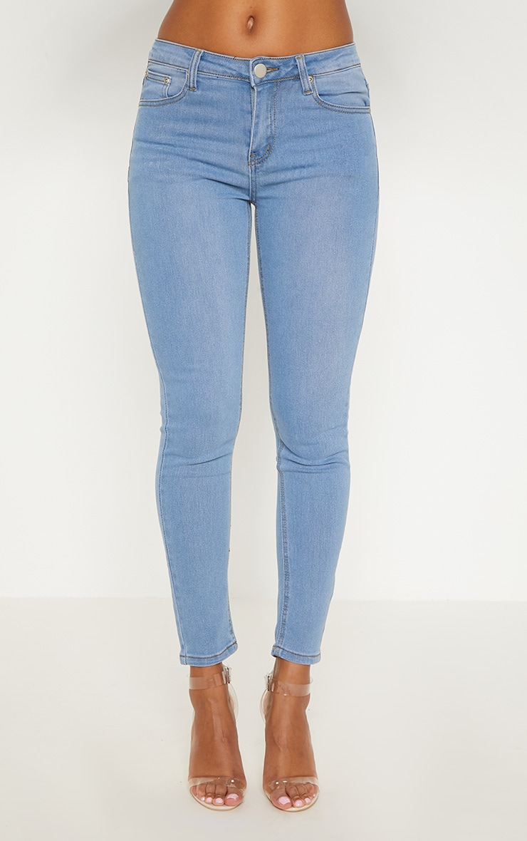 Light Wash Slim Leg Jeans 6