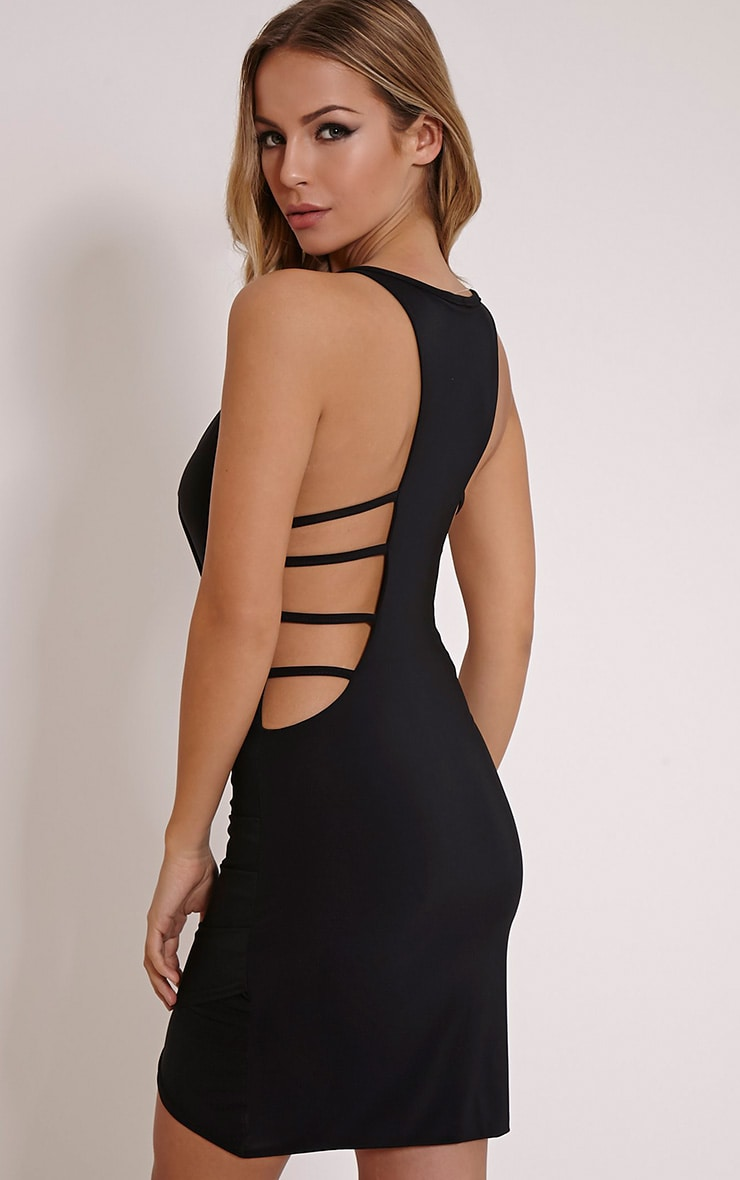 Racerback Black Mini Dress