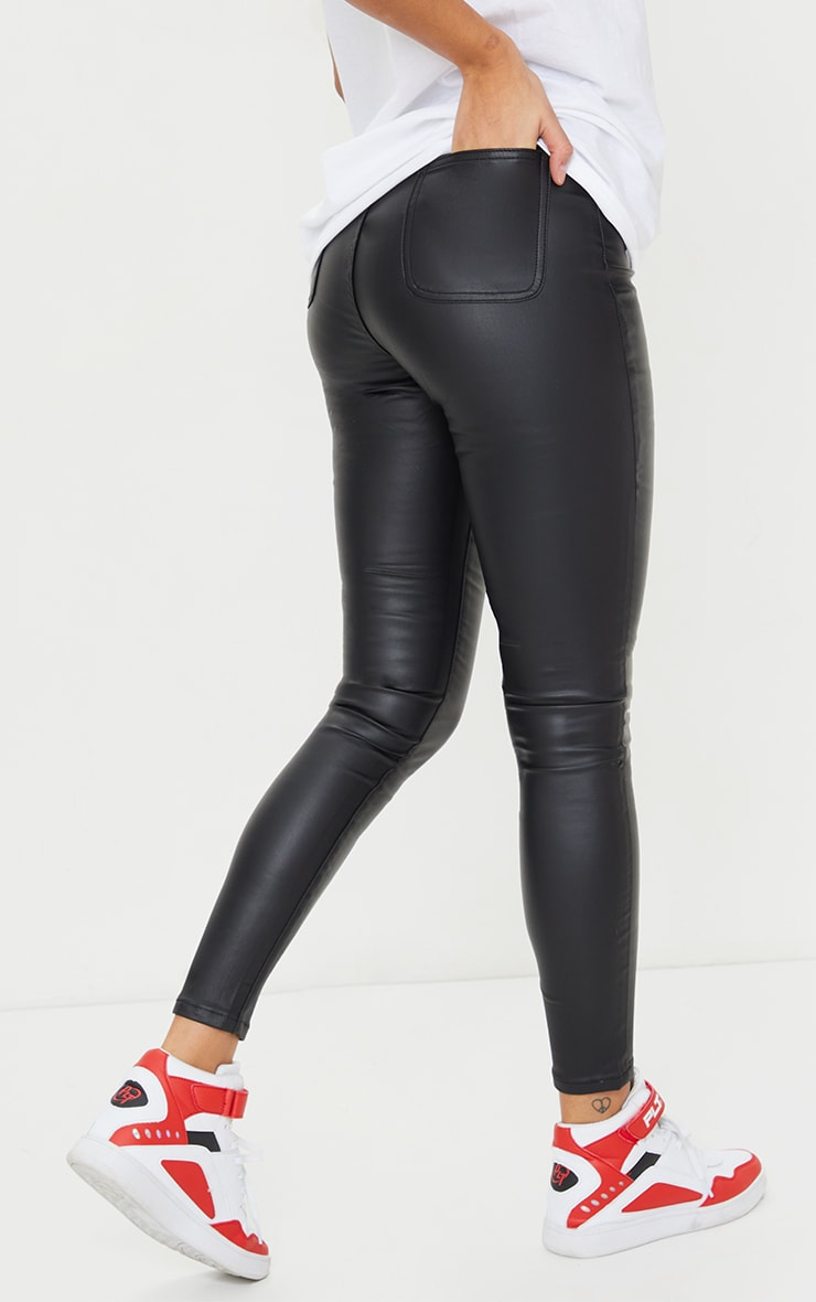 Coated Black Disco Skinny Jeans 3
