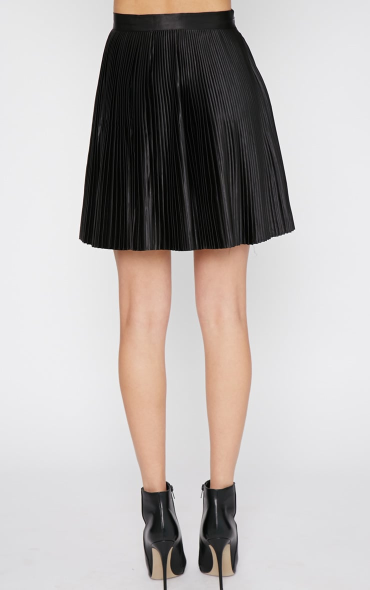 Samantha Black Pleated Mini Skirt  2