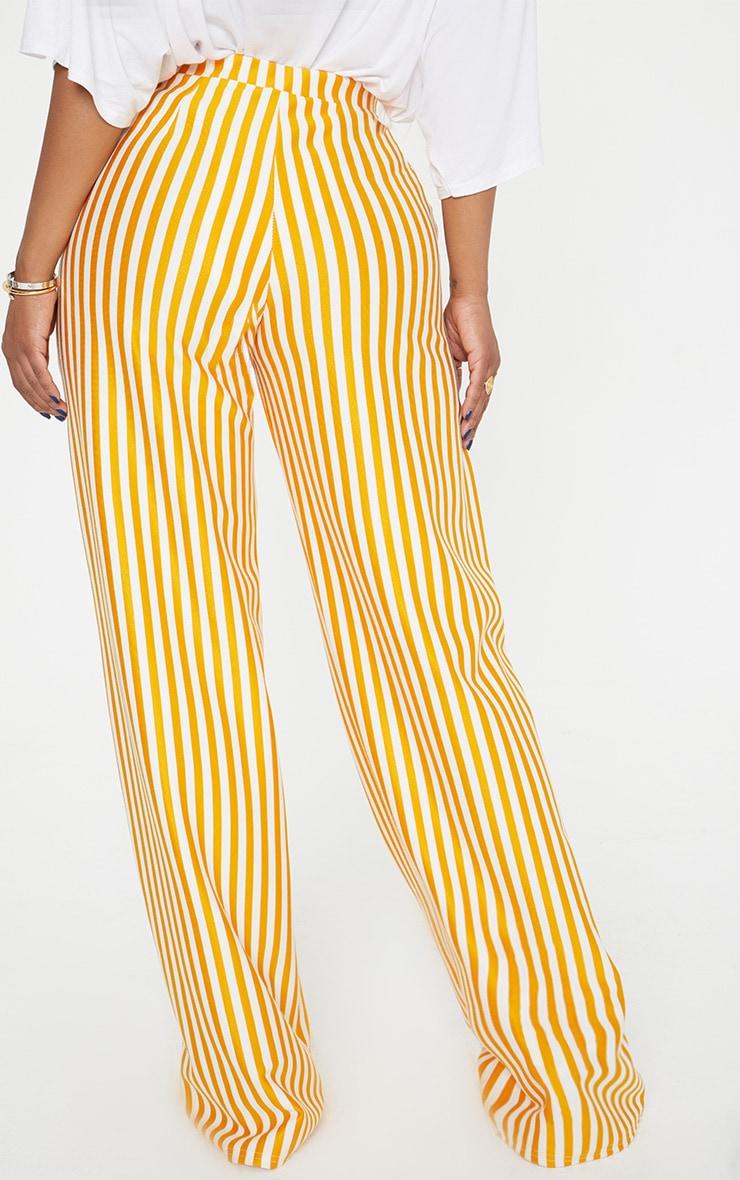 Shape Mustard Striped Wide Leg Trousers 4