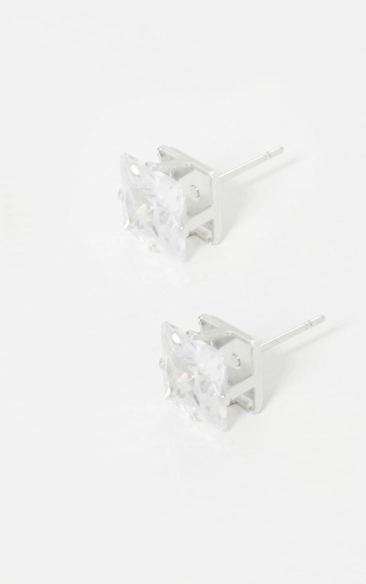 Valeane clous d'oreilles argent en cristal 3