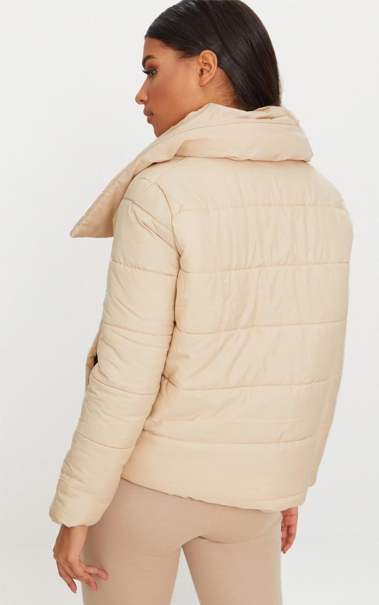 Stone Wrap Tie Puffer Jacket 3