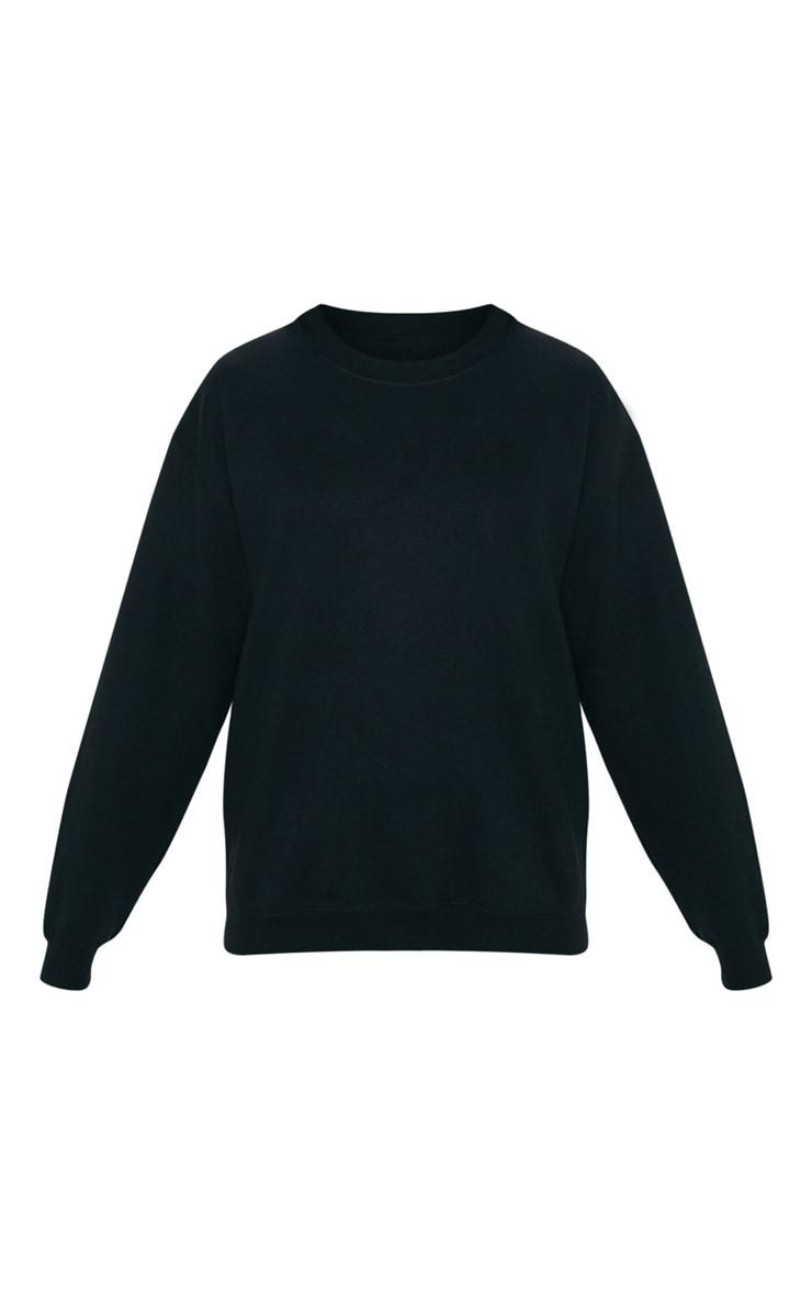 Black Calabasas Print Oversized Sweater 4
