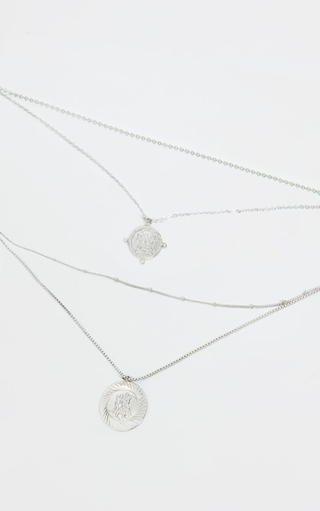 Silver Multi Layer Assorted Necklace 3