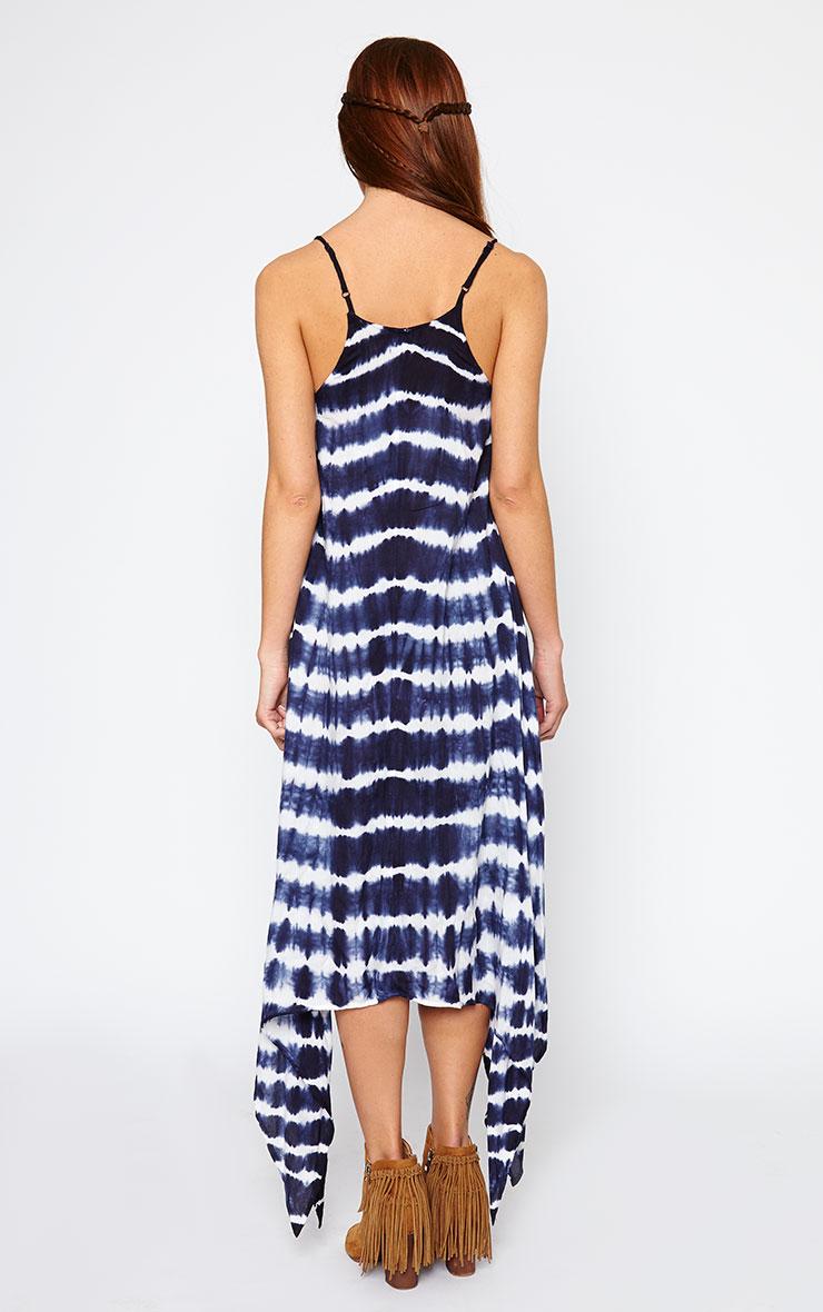 Zadie Blue Tie Dye Maxi Dress 2
