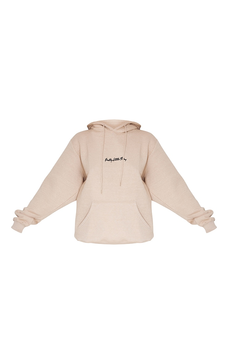 PRETTYLITTLETHING Stone Embroidered Oversized Hoodie 5