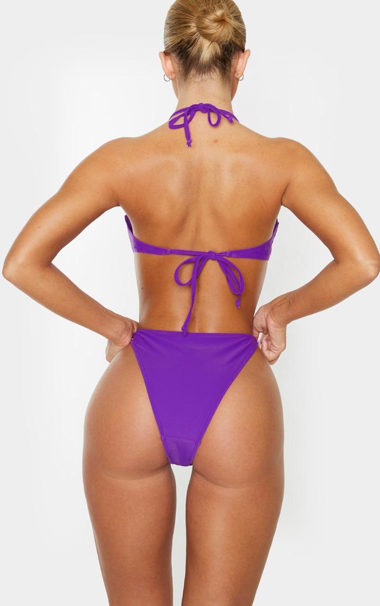 Purple Tanga Bikini Bottom 4