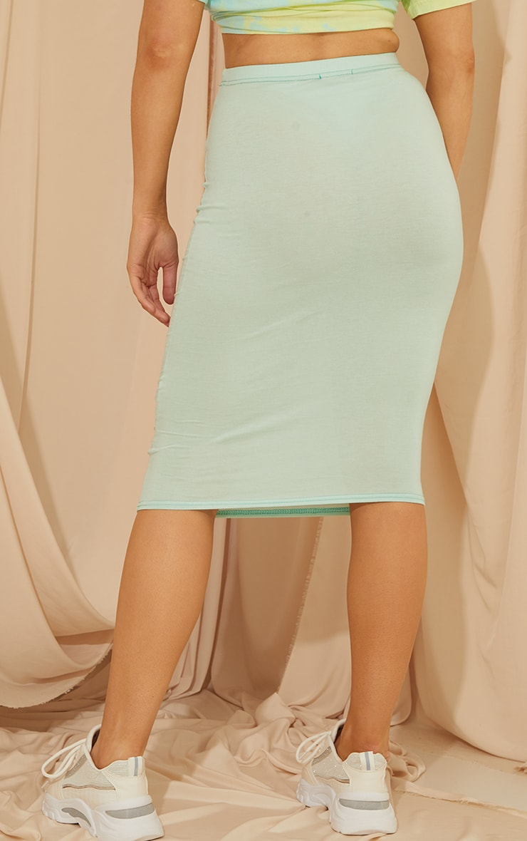 Mint Basic Midi Skirt 3
