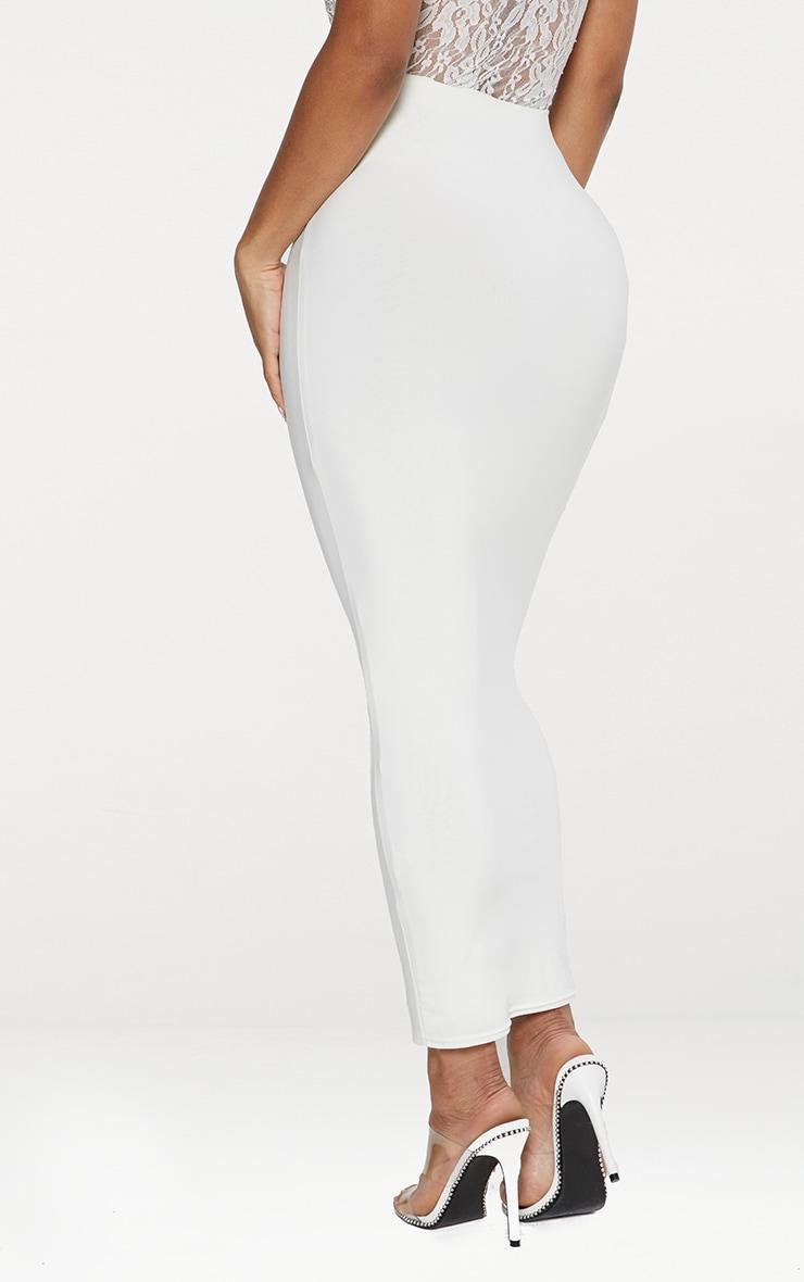 Seconde Peau - Jupe longue blanche  5