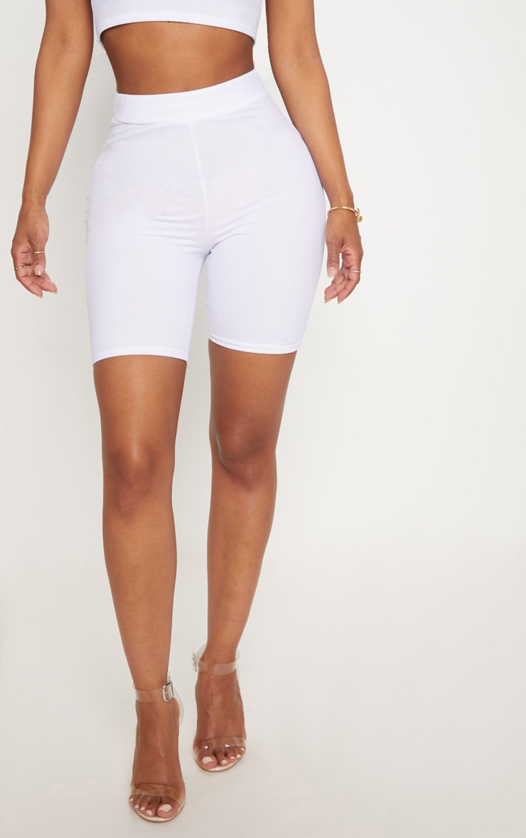 Shape White Mesh Cycling Shorts 2