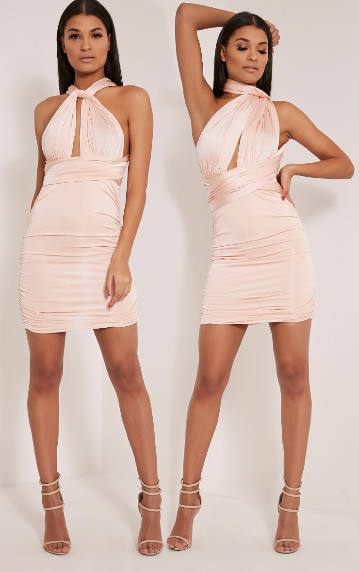 Katherine Nude Multiway Mini Dress 1