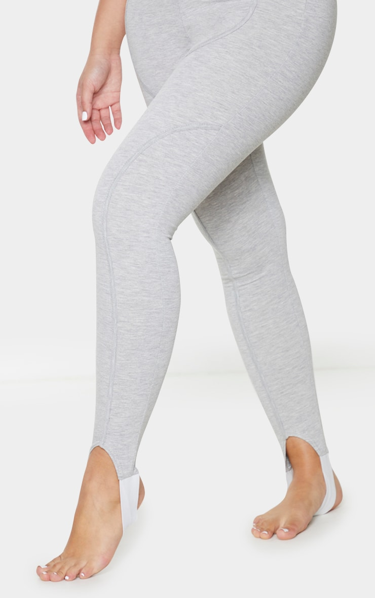 Grey Binding Detail Scoop Neck Stirrup Jumpsuit 4