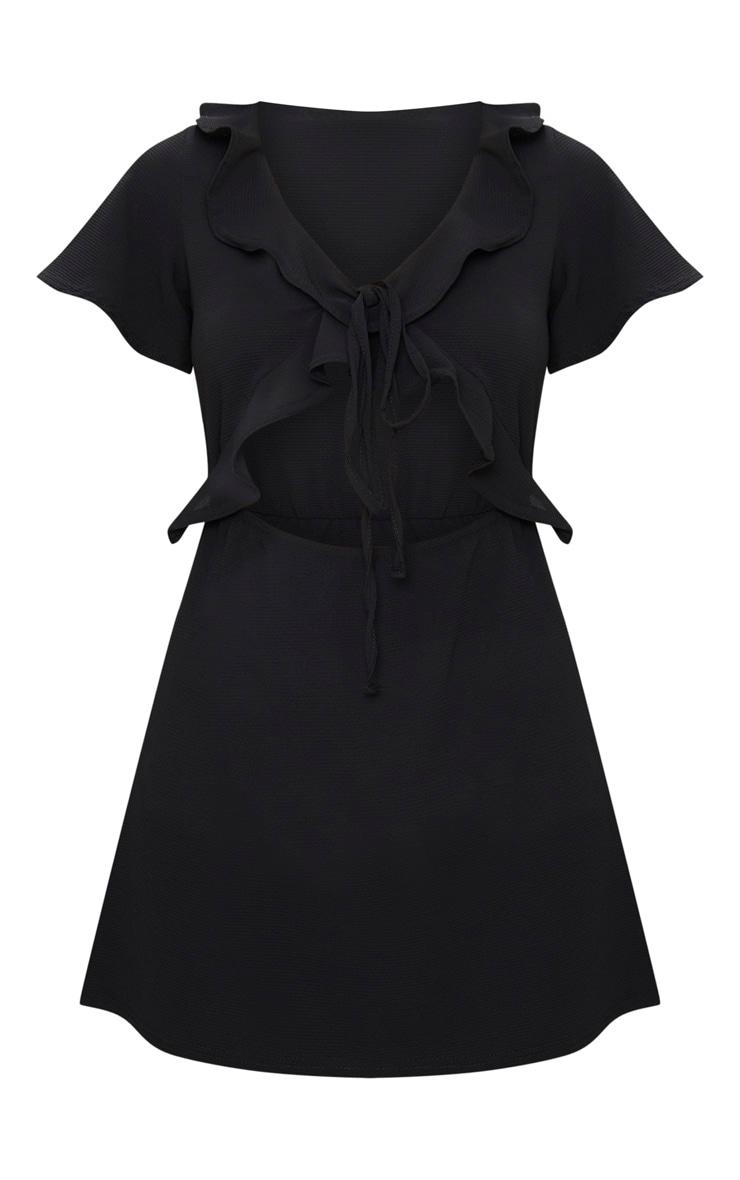 Black Frill Cut Out Tea Dress 3