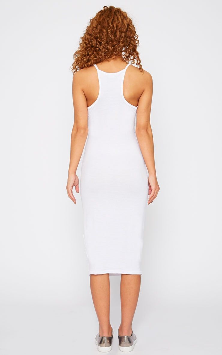 Basic White Midi Dress 2