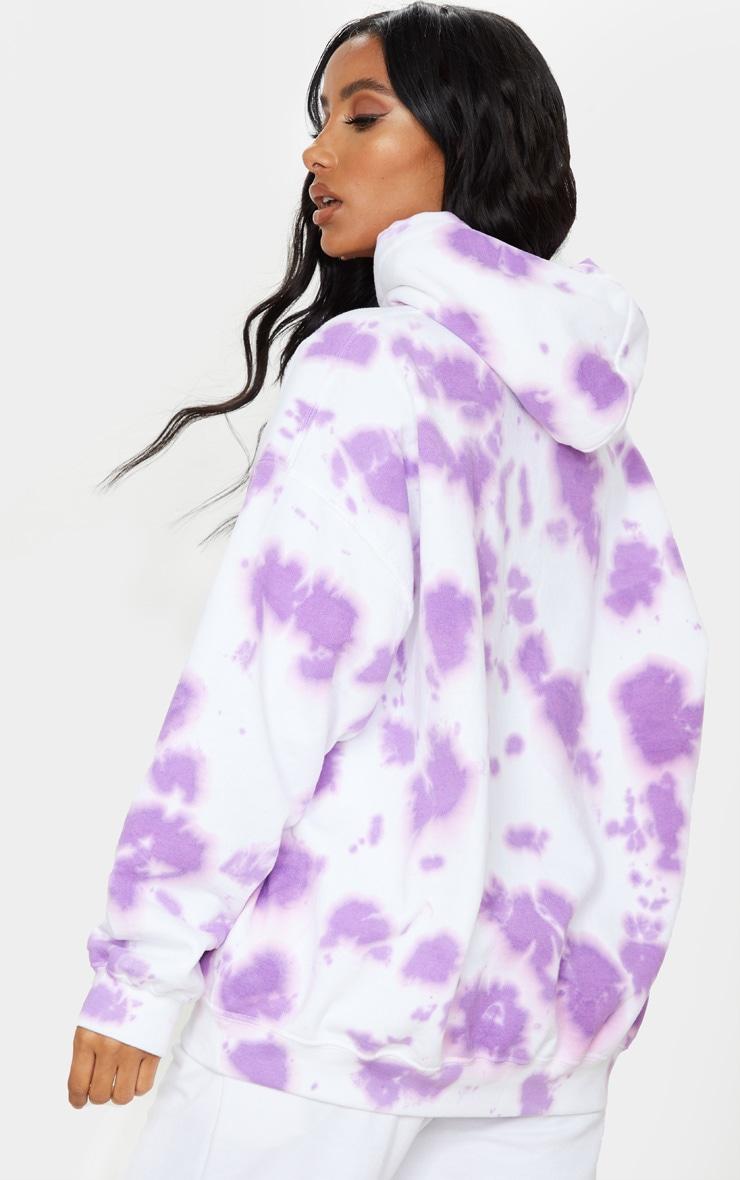 Lilac Tie Dye Oversized Hoodie 2