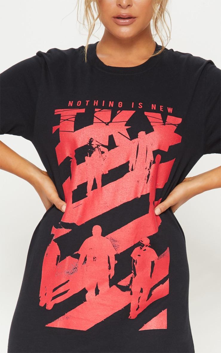 Black Nothing is New Slogan T Shirt 5