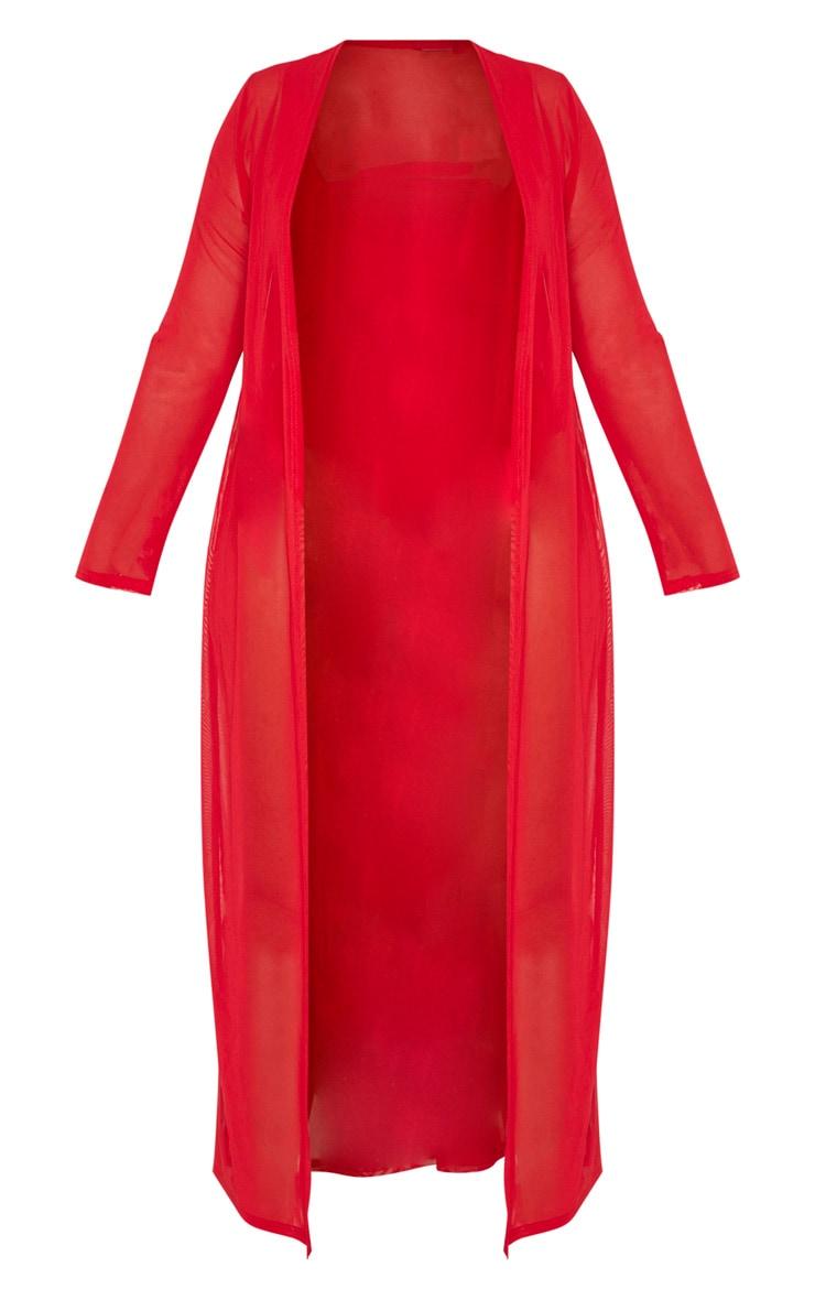 Plus Red Beach Kimono 3