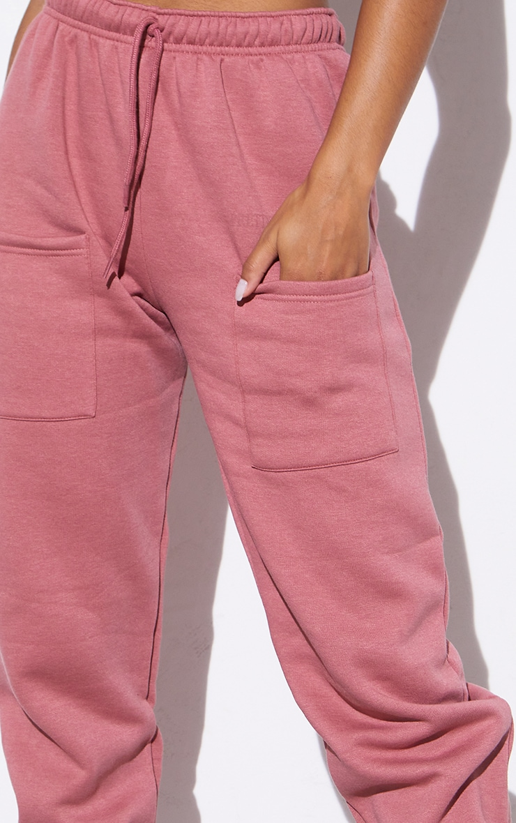 RENEW PRETTYLITTLETHING Washed Red Pocket Front Joggers 4