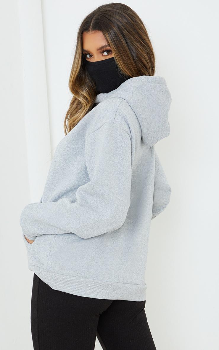 Grey Oversized Mask Hoodie 2